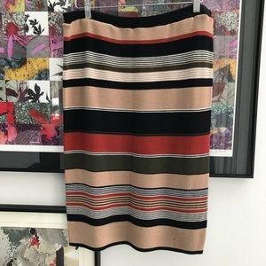 Spense stripped heavy knit pencil skirt